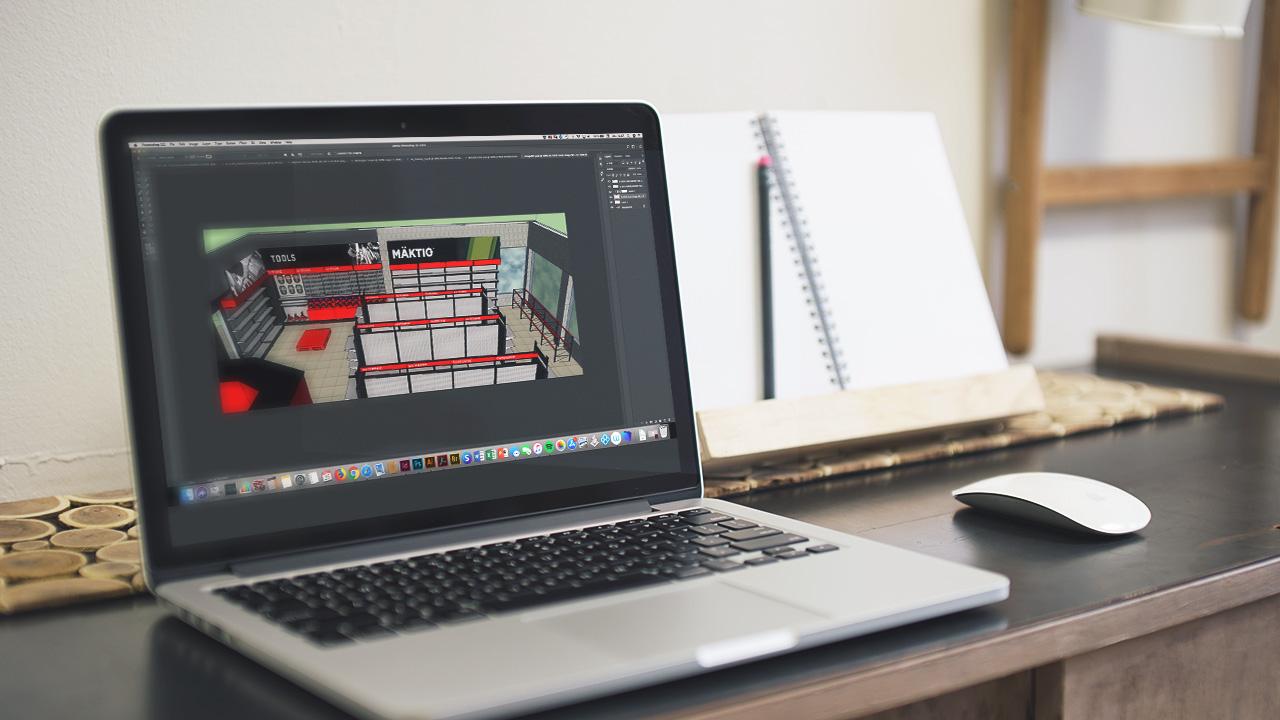 Conception de plan 3D des magasins Bumper To Bumper