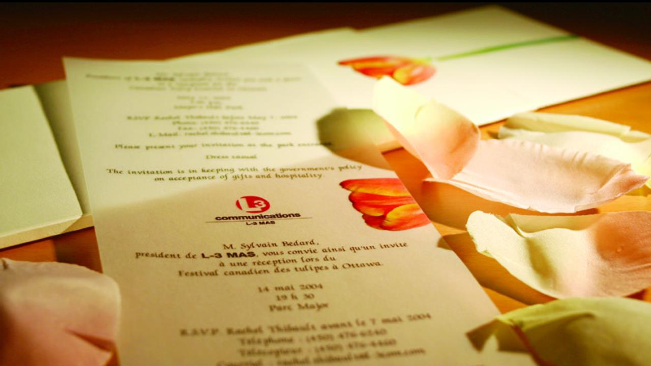 Invitation L3 Mas festival des tulipes d'Ottawa
