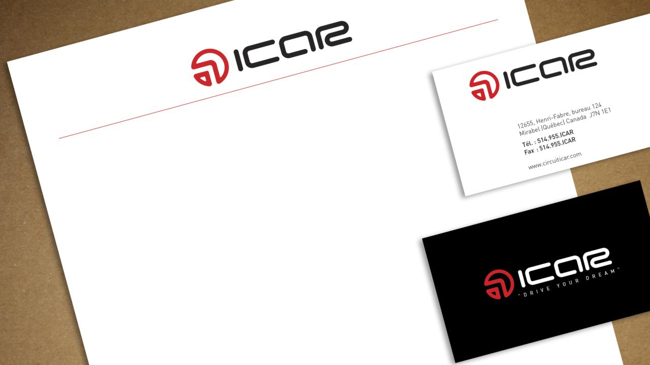 Logo et papeterie ICAR