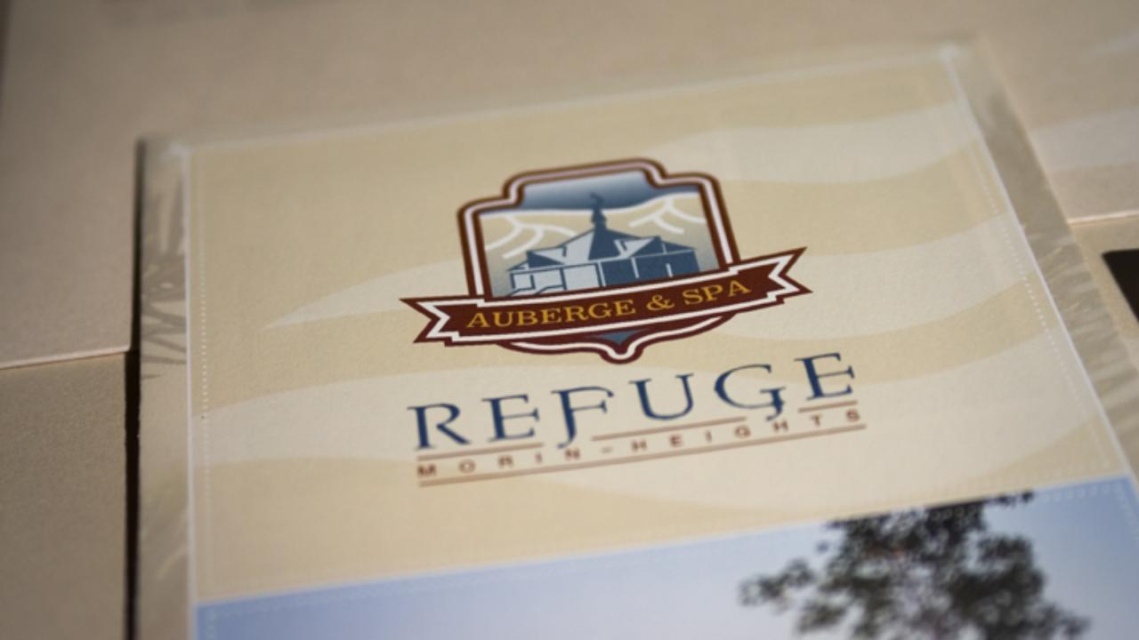 Logo et papeterie Refuge Morin-Heights